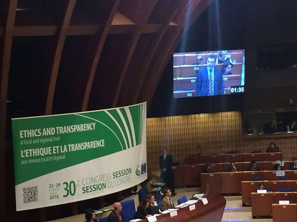 Regionalizzazione dei Paesi europei. A Strasburgo Boschini spiega il modello italiano della Riforma costituzionale