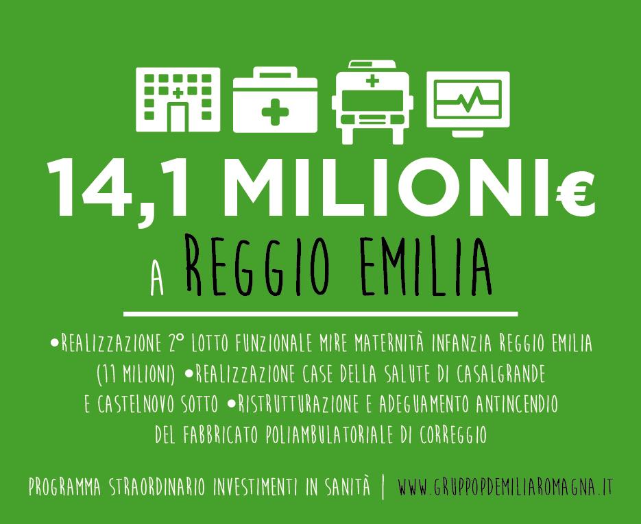 """Mori, Prodi, Rossi e Soncini: """"Oltre 14 milioni alla sanità reggiana nel programma regionale di investimenti"""""""