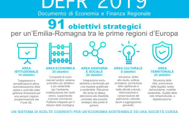 Il nuovo documento di Economia e Finanza della Regione definisce gli obiettivi, gli impegni e le politiche della Regione