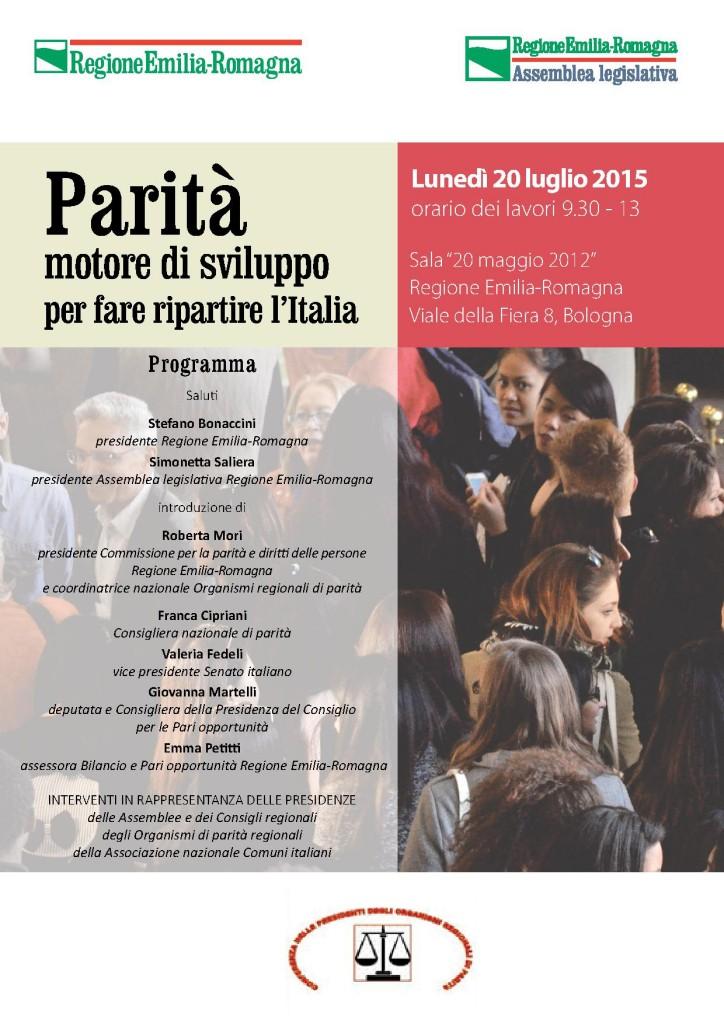 """Mori: """"Parità, l'Emilia-Romagna un esempio nazionale"""""""