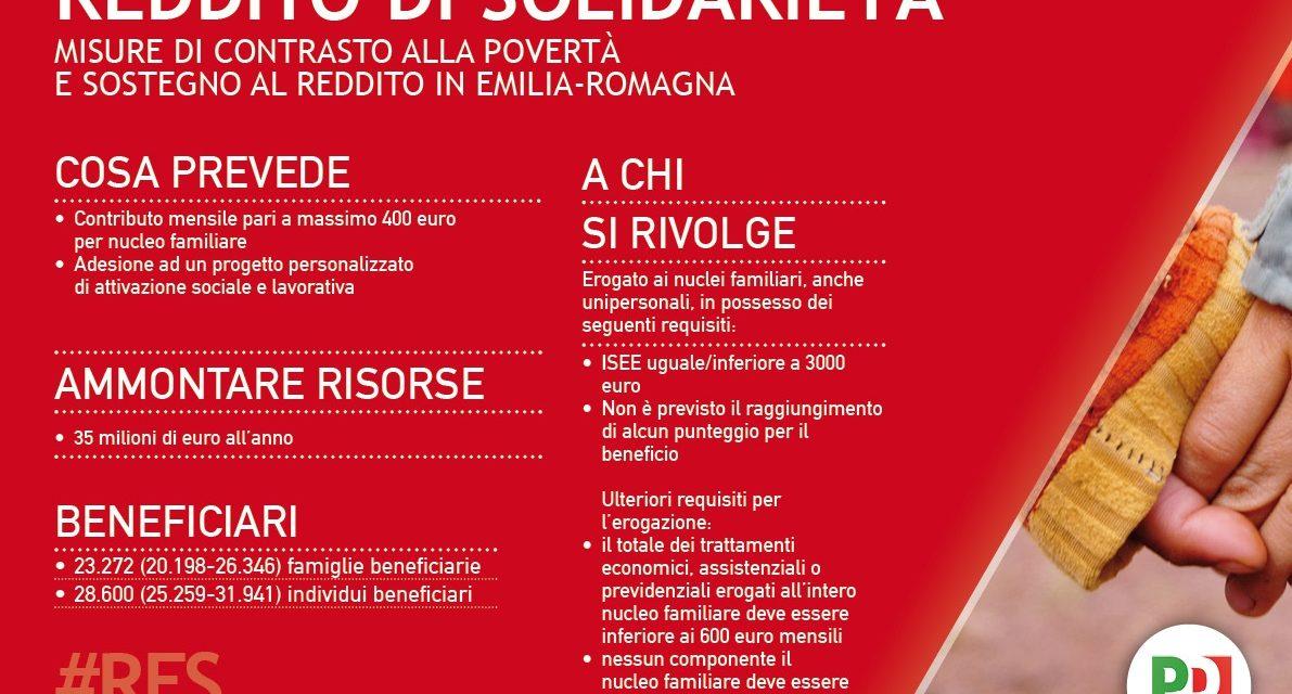 Il Reddito di Solidarietà è legge in Emilia-Romagna