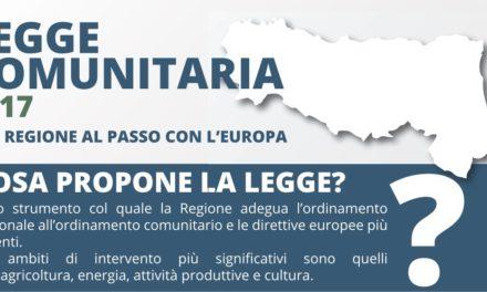 Legge comunitaria 2017. La Regione si adegua all'ordinamento europeo