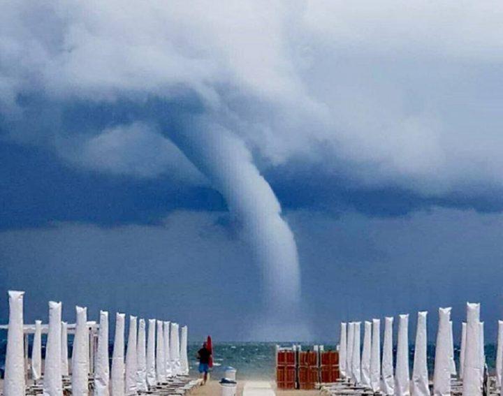 Violenta tempesta in Riviera